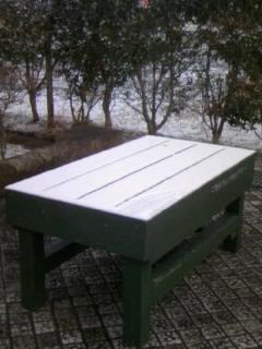 またも雪…