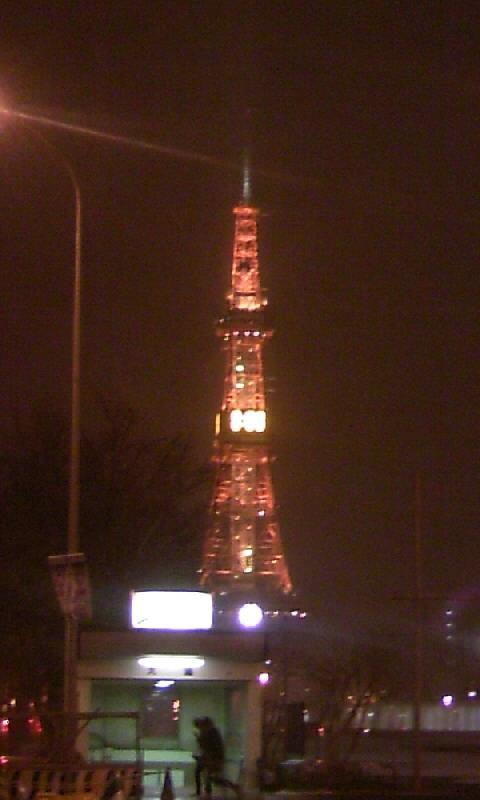 吹雪きのTV塔